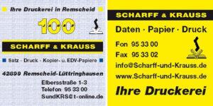 Ihre Druckerei Scharff & Krauss
