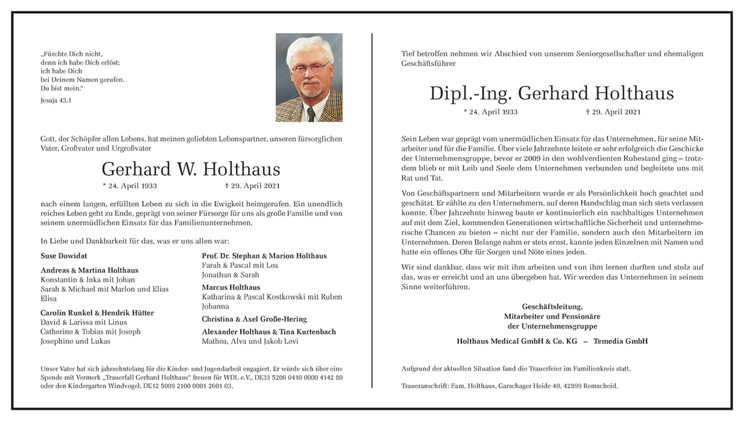 Gerhard W. Holthaus