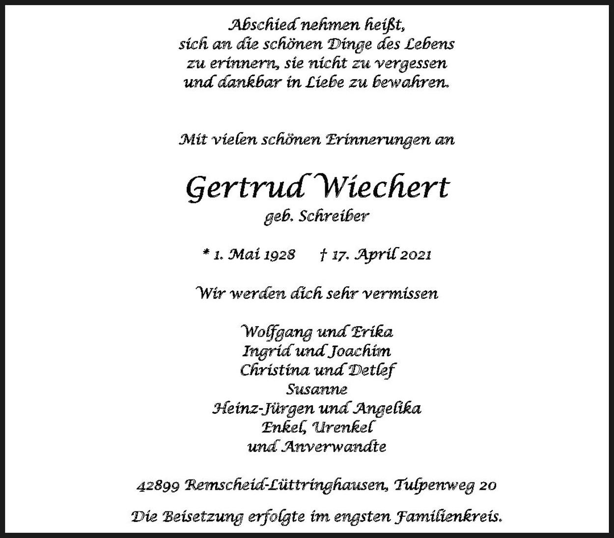 Gertrud Wiechert