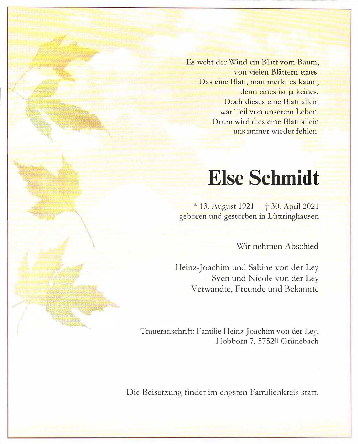 Else Schmidt