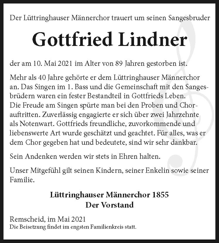 Gottfried Lindner, Nachruf LMC