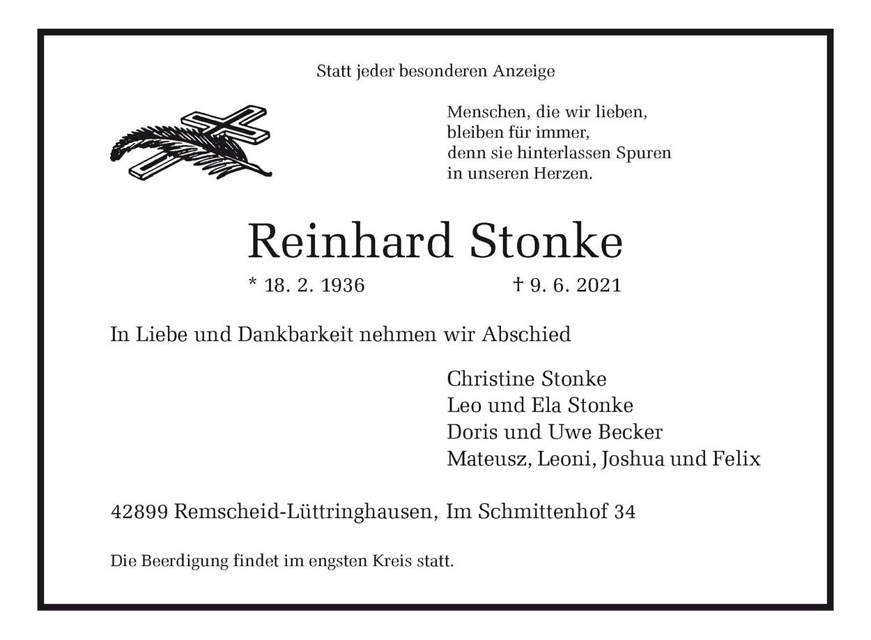 Reinhard Stonke