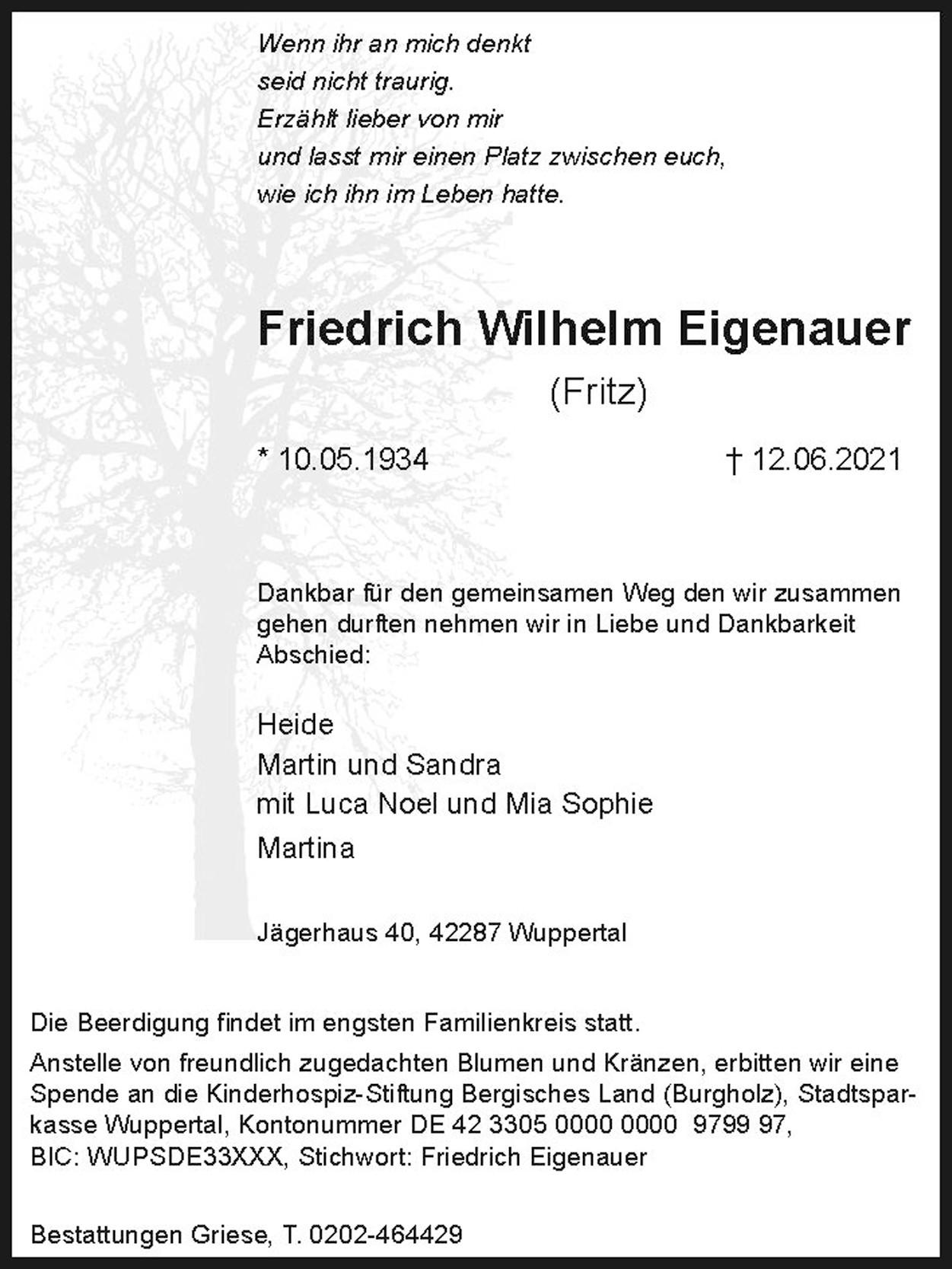 Friedrich Wilhelm Eigenauer