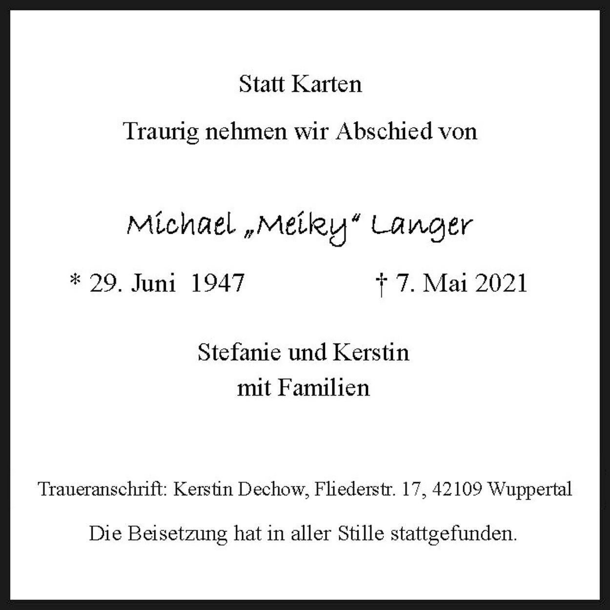 "Michael ""Meiky""Langer"