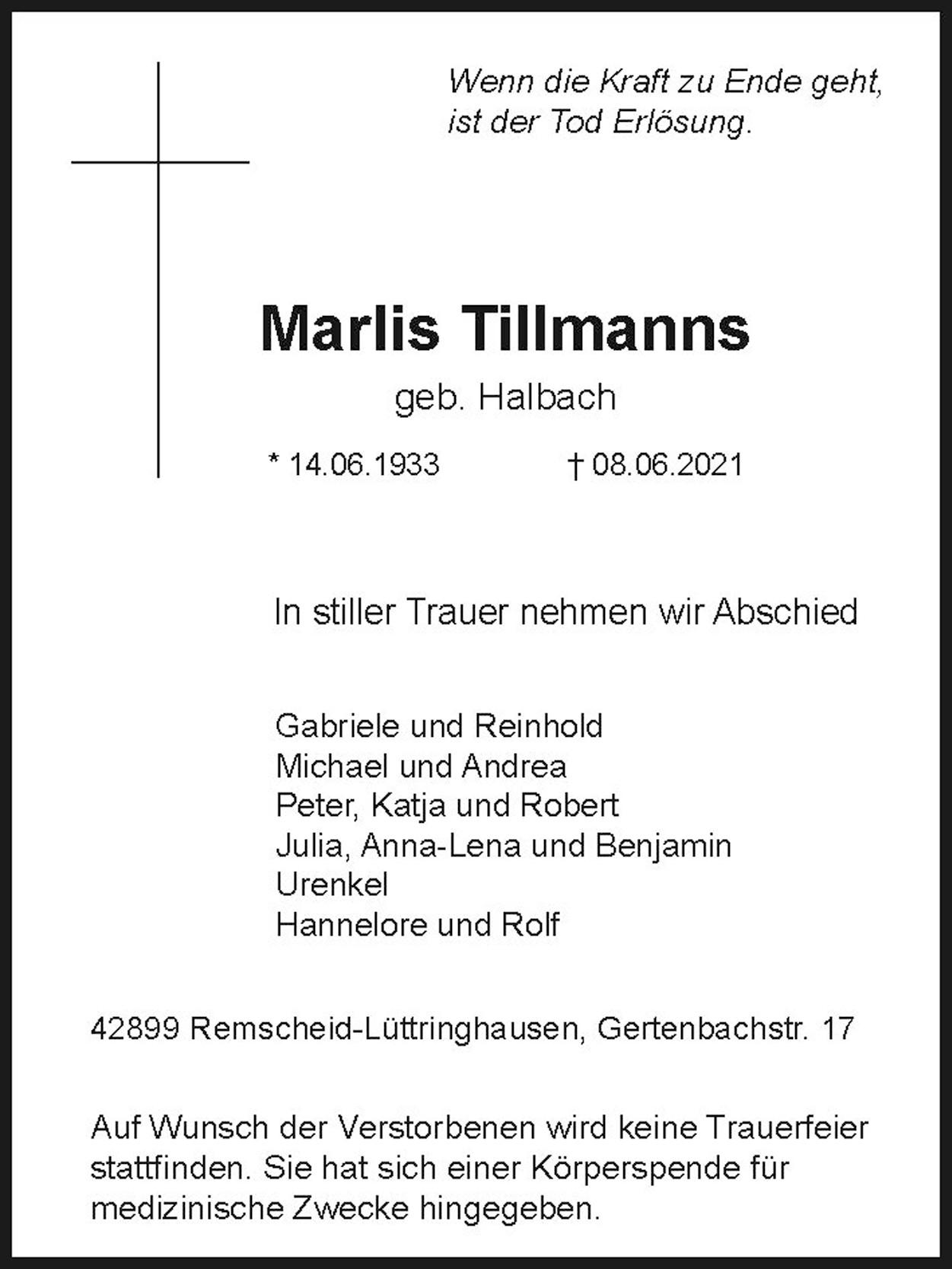 Marlis Tillmanns