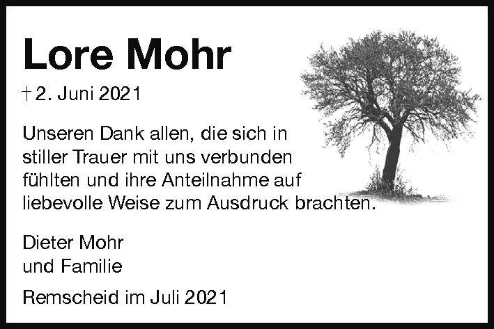 Dank Lore Mohr