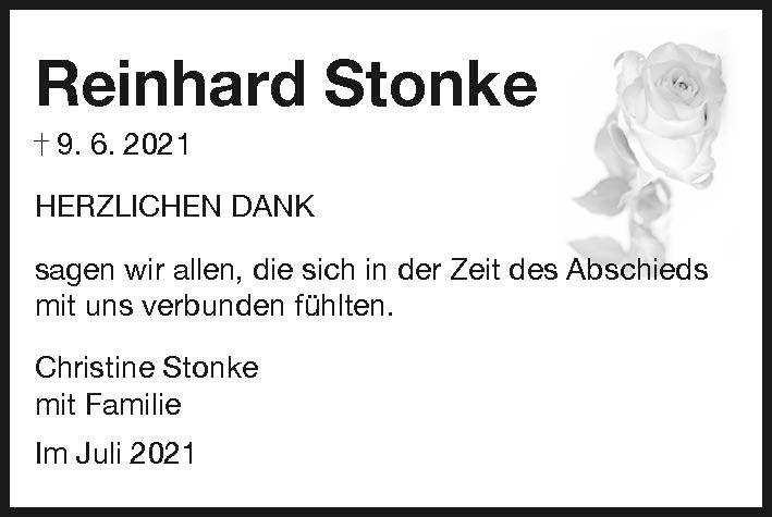 Dank Reinhard Stonke