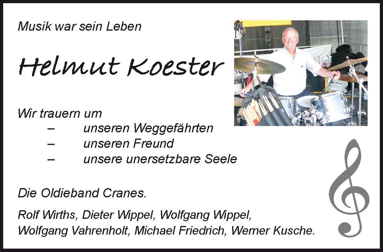 Nachruf Helmut Koester