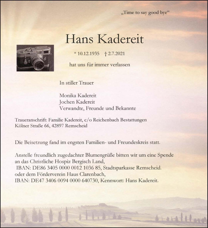 Hans Kadereit