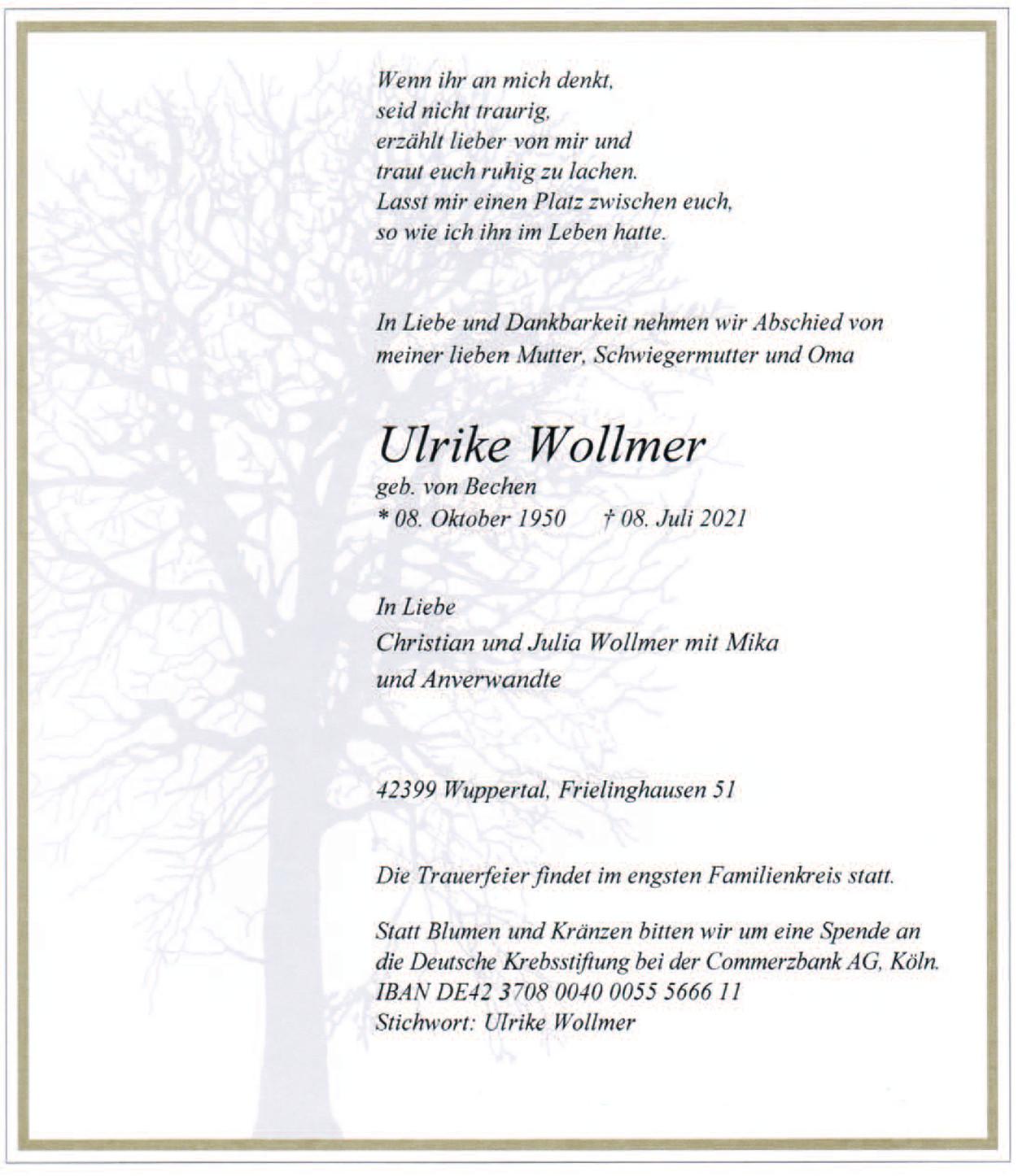 Ulrike Wollmer