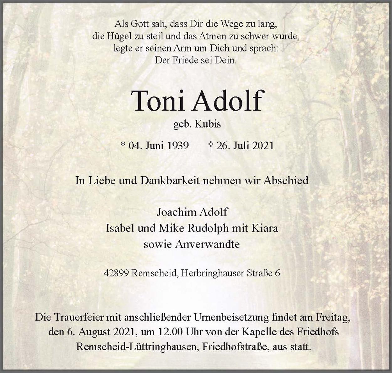 Toni Adolf