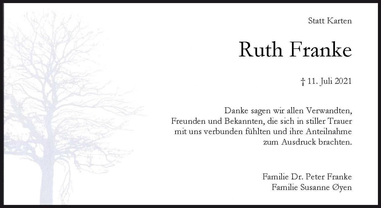 Dank Ruth Franke