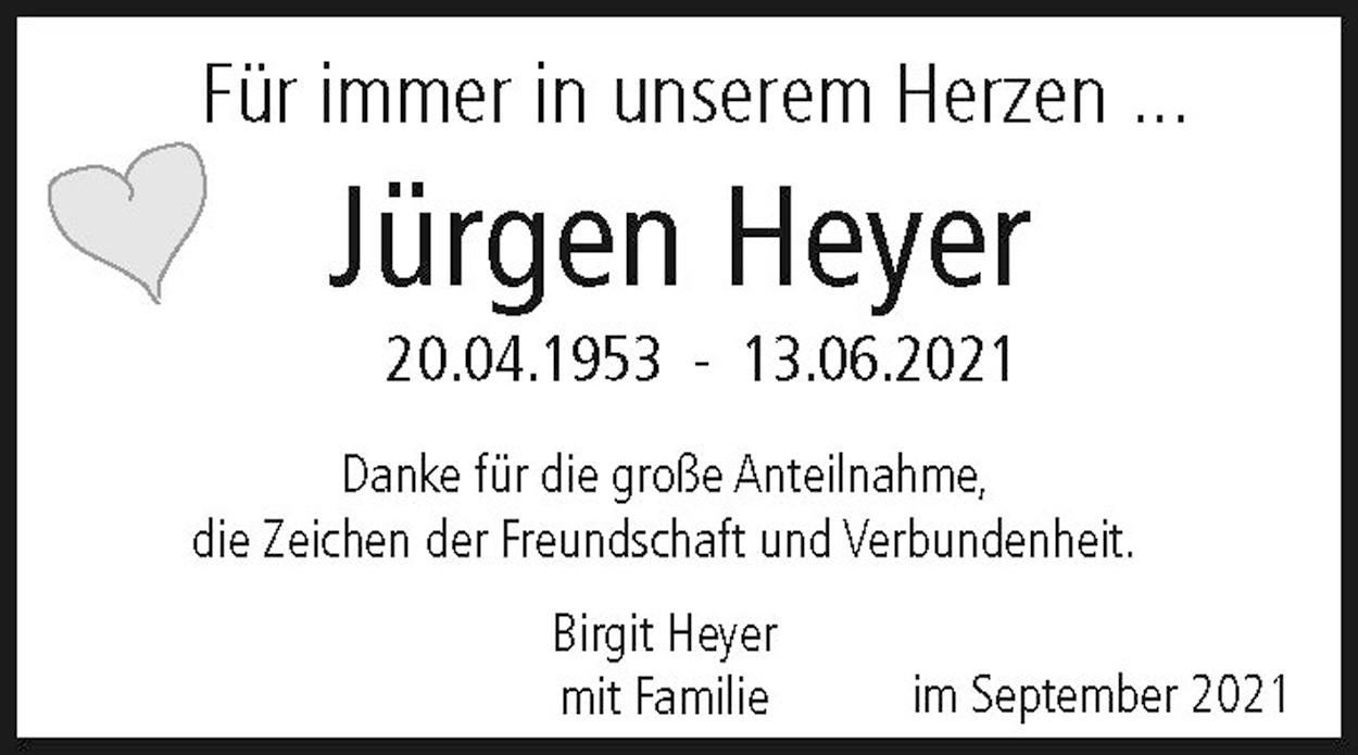 Nachruf Jürgen Heyer