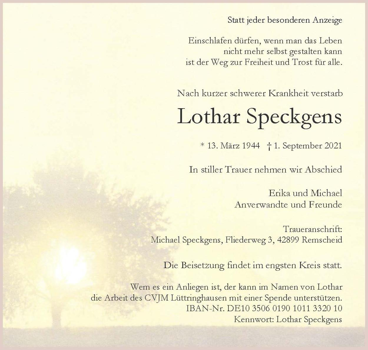 Lothar Speckgens