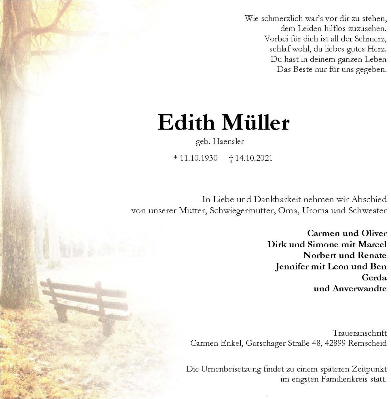 Edith Müller