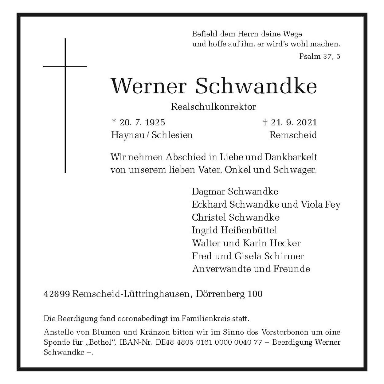 Werner Schwandke