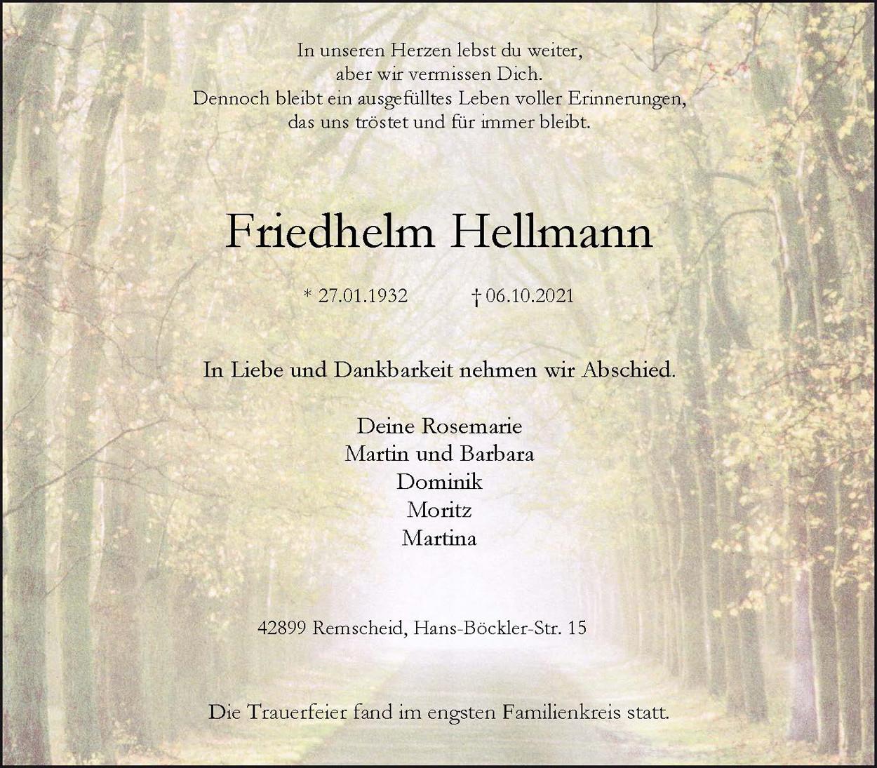 Friedhelm Hellmann